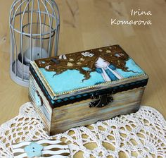 Alice in Wonderland box for jewelry decoupage box от MissDecoupage