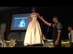 My mothers wedding dress. Entered in a wedding exhibition in alexandra.