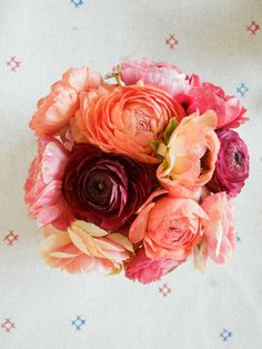 Brilliant bouquet of flowers with powerful pink hues.