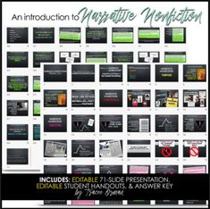 Narrative Writing: Introduction to Narrative Nonfiction Presentation Research Writing, Narrative Writing, Writing Prompts, Middle School Teachers, High School, College Application Essay, Teaching Resources, Teaching Ideas, Common Core Writing