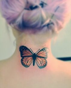 Butterflies are probably the most commonly tattooed thing of all time. But this is an exception. Beautiful art and beautiful placement.