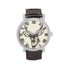 #Deer #Sketch #Wristwatch $50.95