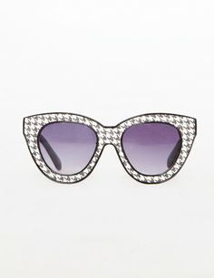 5089533abb Houndstooth sunglasses Sunglasses Shop, Trendy Accessories, Go Shopping,  Houndstooth, Herringbone, Latest