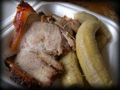 cerdo asado con guineitos