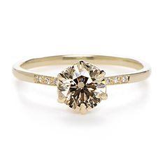 Anna Sheffield Hazeline Champagne Diamond Ring