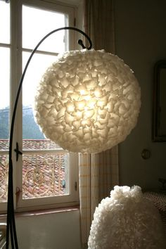 lampe papier patisserie, recycled cooking paper for light, upcycling ...