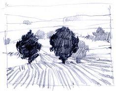 : landscape drawings : Landscapes, Paul Balmer