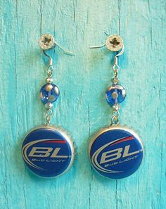 Bud Light Sterling Silver Fully Painted Beer by BrooklynAlienArt, $12.50