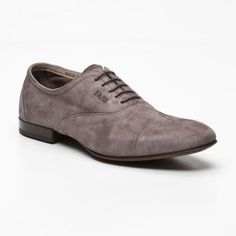 Suede Shoes in Grey by Fabi // leather suede surface patina #wearabledesign