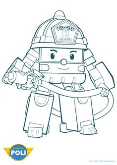 Coloriage robocar poli roi 1 useful things - Coloriage poli ...