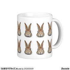 Magnetic cup of rabbit, No.02 Classic White Coffee Mug