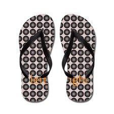 Cute Brown Pattern Flip Flops