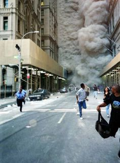 Collapse of the World Trade Center ~ New York City. The South Tower collapsed at a. The North Tower collapsed at a. World Trade Center, Trade Centre, We Will Never Forget, Lest We Forget, Photos Du, Cool Photos, Images Photos, 911 Images, Rare Photos