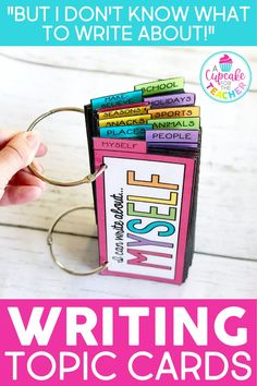 Writing topic cards will help inspire your students and cure writer's block! Kids often don't know what to write about or how to spell a word. These writing prompts will get your first grade and second grade kids writing on their own! Great for centers and writer's workshop! #writingforkids#writinginspiration #writingprompts