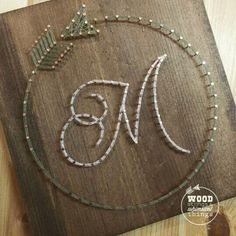Circle Arrow Initial String Art by ramblinstrings on Etsy String Art Letters, String Art Diy, String Crafts, Resin Crafts, String Art Templates, String Art Tutorials, Circle Arrow, Paper Embroidery, Japanese Embroidery