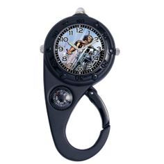 """Marvel Comics Kids' MA0305-D134 Marvel Wolverine Adventure Black Clip Watch Marvel Comics. $18.56. Decorative compass. Silvertone luminous hands. Water-resistant to 99 feet (30 M). Red led light function. Kid's marvel """"adventure"""" black clip watch with marvel character on the dial"""