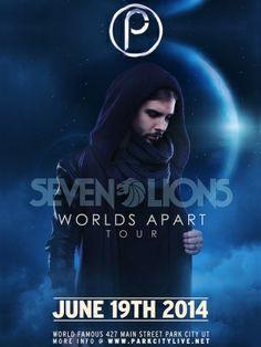 Seven Lions LIVE at Park City Live on Thursday, June 19, 2014. https://ticketcake.com/event/seven-lions/park-city/2014-06-19 #ParkCity #Utah #SLC