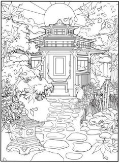Eastern Winds - A Coloring Book For Grown Ups Printable Adult Coloring Pages, Coloring Book Pages, Coloring Sheets, Flower Background Wallpaper, Flower Backgrounds, Dora Coloring, Coloring Tutorial, Desenho Tattoo, Art Plastique