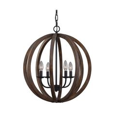 Mill & Mason Hyattstown Weathered Wood and Iron Four-Light Chandelier ($567) ❤ liked on Polyvore featuring home, lighting, ceiling lights, four light, black chandelier light, black chandelier lighting, orb light and black ceiling lights