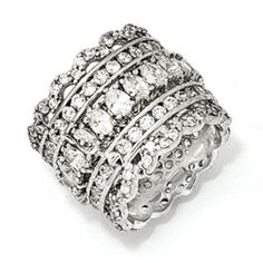 Beautiful Sterling Silver CZ Ring
