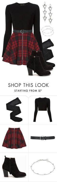 Allison Argent Outfit by zoetozier on Polyvore featuring Proenza Schouler, Fogal, Oh My Love, Nly Shoes, Thomas Sabo, Steve Madden and M&Co #polyvoreoutfits