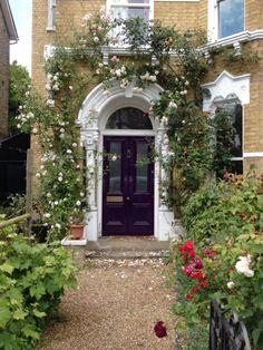 dark victorian front door south east london