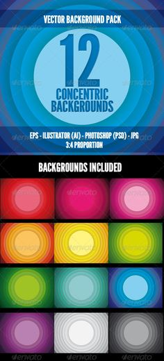 New Vector Background: Concentric Color Backgrounds