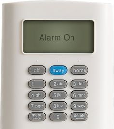 SimpliSafe wireless keypad set to home mode
