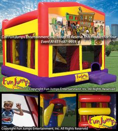 Western All In 1 Slide Combo Inflatable Rental Fun Jumps Entertainment Inc Minneapolis