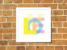 freebie free printable love wall art quadrinho grátis imprimir