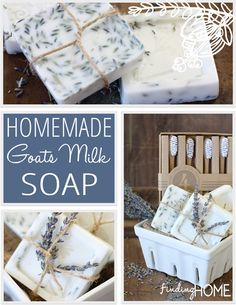 Learn how to make Goat's Milk Soap with this simple recipe.   www.findinghomeonline.com