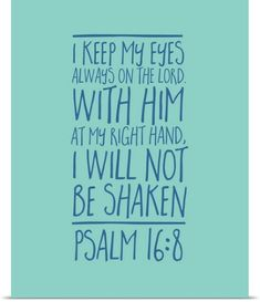 Inner Circle Poster Print Wall Art Print entitled Psalm 16:8 - Scripture Art in Blue and Teal | Jet.com #ad