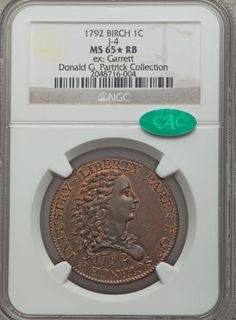 Patterns, 1792 P1C Birch Cent, Judd-4, Pollock-5 MS65  Red and Brown NGC. CAC.... Image #5