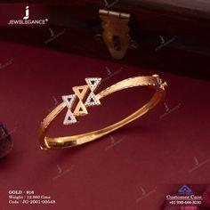 Gold Bangles Design, Gold Jewellery Design, Designer Jewelry, Ladies Bracelet, Gold Bracelet For Women, Bangle Bracelets, Fancy Jewellery, Latest Jewellery, Gold Jewelry Simple
