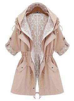 Outerwear Long Parka Jacket/Long  Parka coat /winter coat /spring coat /autumn coat /Women jacket. $55.00, via Etsy.