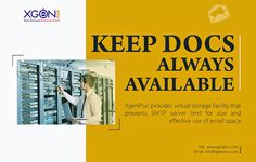 xgenplus provide virtual storage facility that prevents SMTP server limit for size and effective use of email space www.xgenplus.com