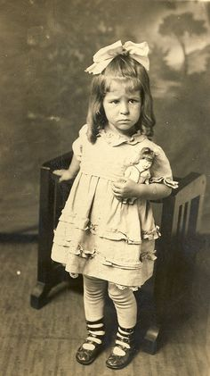Pouty Girl, c 1920 by fluffy chetworth, via Flickr. I think she needs a Baby Grumpy doll.