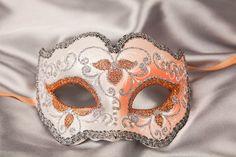 Masquerade Ball Masks - Venetian Masks - IRIS SILVER