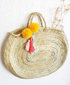 Capazo Ovalado - Oval Beach Bag - Panier Ovale   Mes Petits Pompons