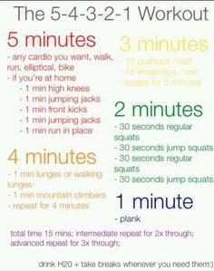 15 min work out plan