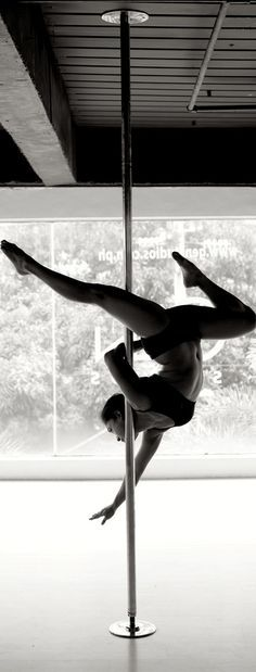 pole dancing is not just about stripping etc. but an amazing way to get fit, flexible and defy gravity!