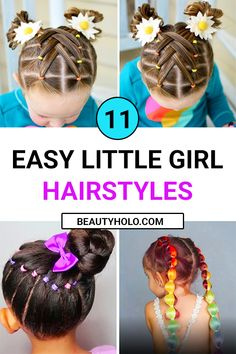 Girls from a very young age want to look beautiful and every day in a new way. Make your daughter one of these simple easy hairstyles, and she will feel the most beautiful in kindergarten! So Check the best 11 Simple Easy Little Girl Hairstyles, Young Girls Hairstyles, Cute Girls Hairstyles, Anime Hairstyles, Toddler Hairstyles, Stylish Hairstyles, Hairstyles Videos, Toddler Haircut Girl, Easy Little Girl Hairstyles, Easy Hairstyles For Long Hair