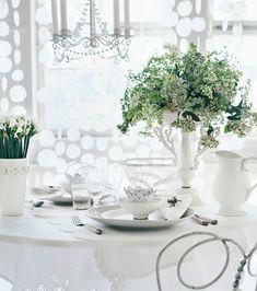 Delicate White Table Decoration ♥ Нежна бяла декорация за маса | 79 ideas