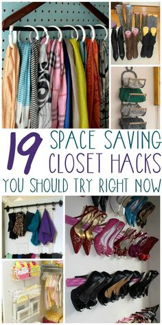 Great ways to maximize a small space! Get the most out of your closet with the help of these great hacks.