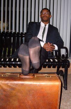 Gay sheer sock worship