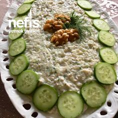 Cucumber Summer Salad with Cucumber # cucumber - Delicious Meets Healthy: Quick and Healthy Wholesome Recipes Turkish Recipes, Summer Salads, Turkish Delight, Food Art, Pickles, Cucumber, Food And Drink, Vegetables, Tiramisu