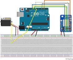 Kontrollieren eines Servomotors via WiFi über einen Arduino Esp8266 Arduino, Arduino Projects, Home Automation, Motor