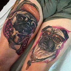 Cool pugs tattoo