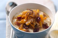 Porridge with apricot and cranberry via @TescoRealFood
