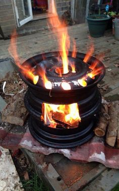 """Visit our website for even more relevant information on """"fire pit gravel"""". It is an exceptional spot to learn more. Outdoor Bbq Kitchen, Outdoor Stove, Outdoor Fire, Fire Pit Grill, Diy Fire Pit, Fire Pit Backyard, Diy Wood Stove, Parrilla Exterior, Fire Pit Materials"""